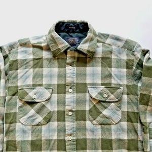 Pendleton Mens M Maverick Wool LS Plaid Shirt